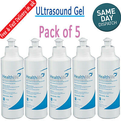 Healthlife Blue Fetal Doppler Ultrasound Transmission Gel Tens EMS 250ml
