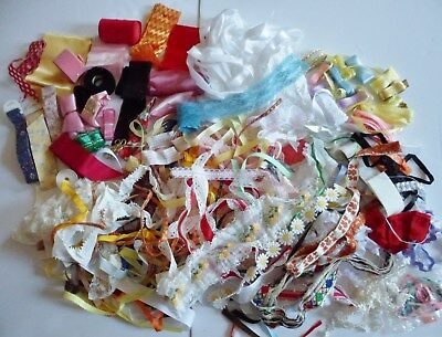 Large Lot Of Ribbons Lace Trims Vintage To Modern Crafts Dolls Sew Many YARDS