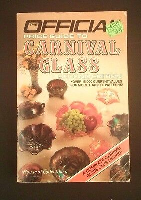 Official Price Guide to Carnival Glass 2nd Edition House of Collectibles Jordan