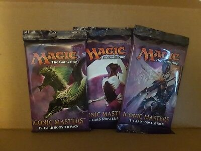 magic the gathering 3 iconic masters 2017 new sealed booster packs