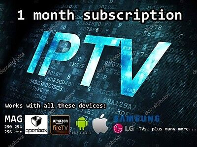 1 month subscription gift openbox Mag box SMART IPTV firestick android devices