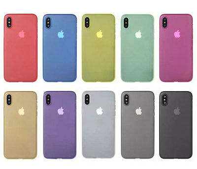 iPhone X Case Ultra Thin Skin Light Slim Semi Transparent Frosted Matte Cover