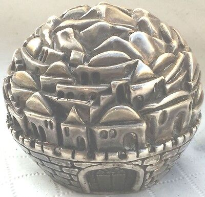 Vintage Judaism 925 Silver Jerusalem Israel Holy City Hebrew Judaica Jewish