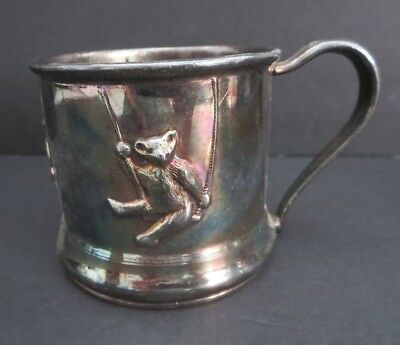 """Vintage  Marked 2.5"""" Silverplate Childs Cup    Forbes Silver Co. Usa"""