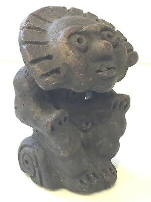 Vintage Stone Maya Mexican Fertility Goddess God Figure Aztec Mayan Folk Art