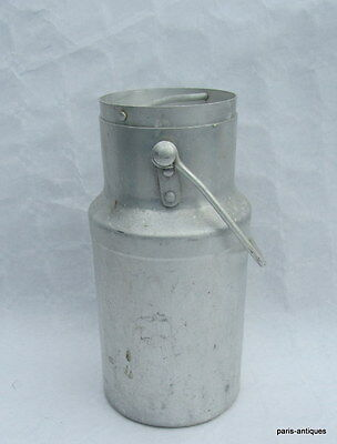 vintage French milk can pot churn/ pot a lait Aluminium