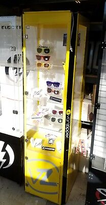 Sunglass store display case Von Zipper Oakley spy  Rey ban electric spy lighted
