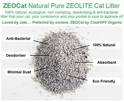 100% Natural Pure ZEOLITE Cat Litter 25kg Wholesale Pack Absorbs Smells & Odours