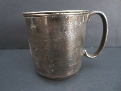 "Vintage  Marked 2 3/4"" Silverplate Cup From Argentina"
