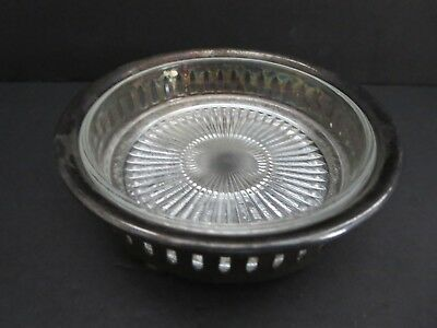 """Vintage  Marked  4.5""""  Silverplate Candy Dish    Made In Canada Morton Parker"""