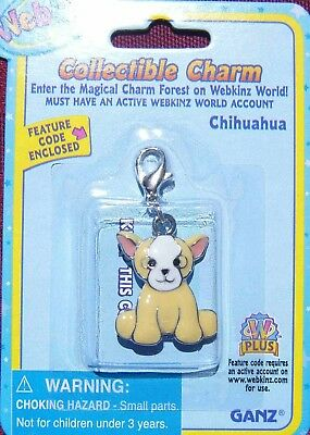 RARE WEBKINZ CHIHUAHUA CHARM Jewelry New in Package w/ Code