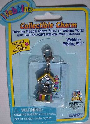 RARE WEBKINZ WISHING WELL CHARM Jewelry New in Package w/ Code