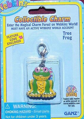 WEBKINZ GREEN TREE FROG CHARM Jewelry New in Package w/ Code