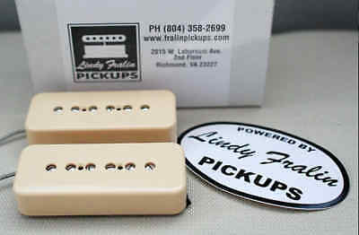 New Lindy Fralin Hum-Cancelling Soapbar P90 Pickup Set of 2 Cream Made in USA