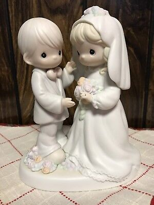 """Precious Moments """"i Give You My Love Forever True"""" 1994 Bride And Groom"""