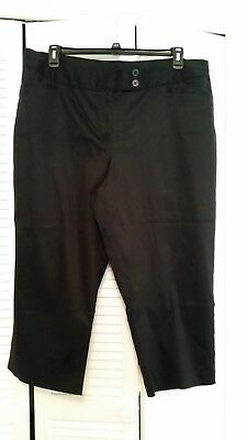 f0947c6d3d9 Lane Bryant plus Size 20 Cropped Suit Pants Capri Black Work Pants
