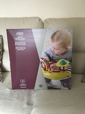 Mamas And Papas Snug and activity tray **NEW SEALED***grey booster infant seat