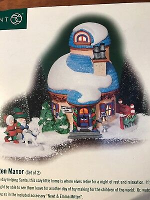 Department 56 North Pole Series Elf Land Mitten Manor With Accessory NEW IN BOX