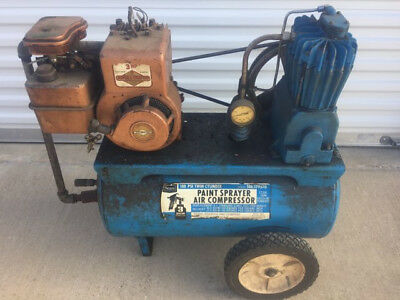 Sears 3 HP Gas powered air compressor older unit but works great