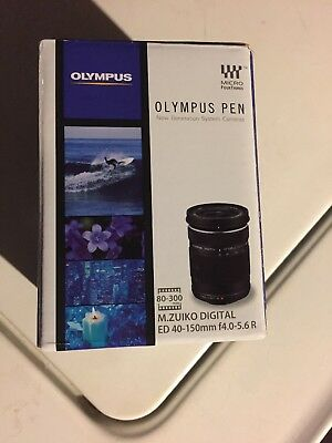 Olympus M.Zuiko Digital 40-150mm f/4.0-5.6 R ED Lens,  Silver, AF/MF, Free Ship