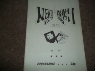 Neath Youth Rugby Union French Tour France 1983 Souvenir Brochure