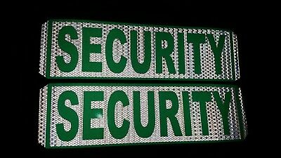 security magnetic door signs reflective white reflective green . Full reflective