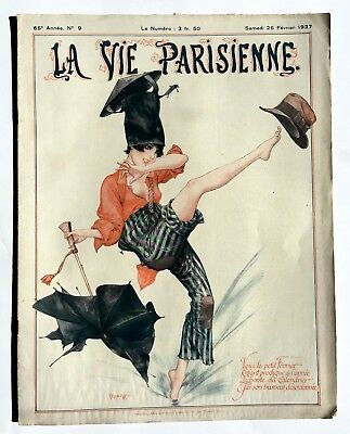 February 1927 La Vie Parisienne French Magazine - Great Carnival Centerfold