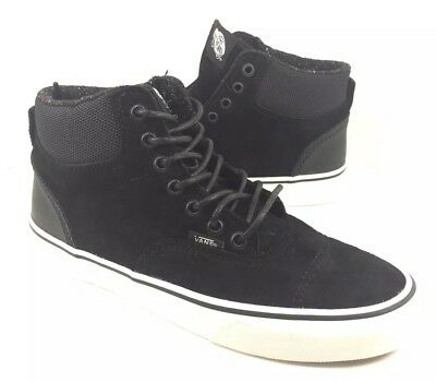 08ed6acd1d3c24 NEW Vans Era Hi Mens Pig Suede Nylon Double Black Skate Shoes Sneakers Sz  7.5 9