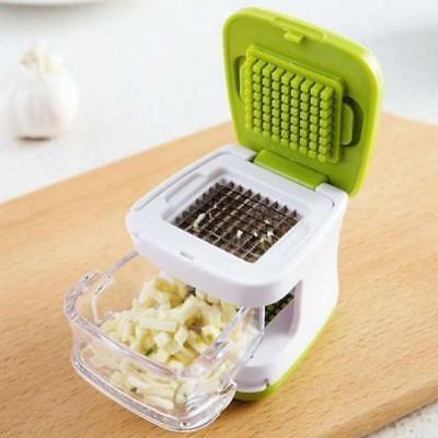 Stainless Press Vegetable Garlic Onion Slicer Chopper Cutter Dicer Tool 1PC LH