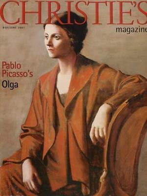 Christie's Magazine May/June 2001 -  Pablo Picasso's Olga Cover - FREE SHIPPING