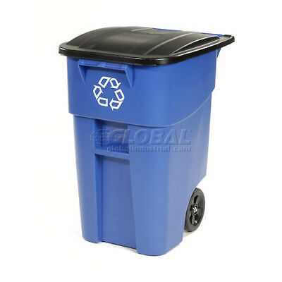 Rubbermaid Brute Recycling Rollout Container 50 Gallon, Rubbermaid 9W27-73