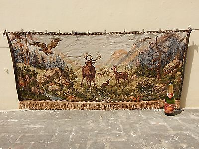 Large Vintage French Beautiful Scene Tapestry 159X67cm (A801)