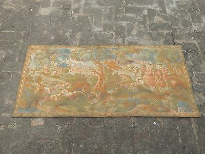 Large Vintage French Beautiful Scene Tapestry 155X71cm (A876)