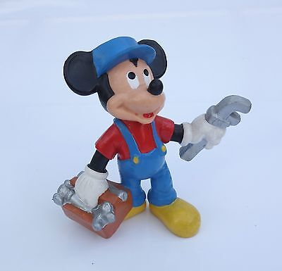 * Mickey Mouse / Micky Maus als Klempner *; gem. Disney / Bullyland handpainted