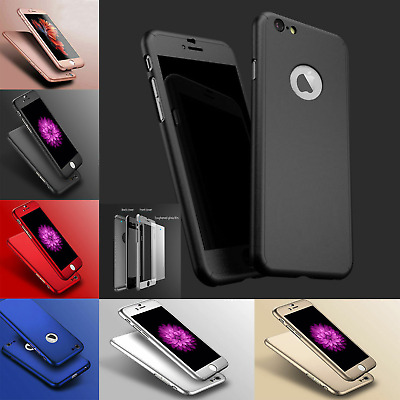 For Apple iPhone Bumper Shockproof Hard Plastic Protective Case Cover