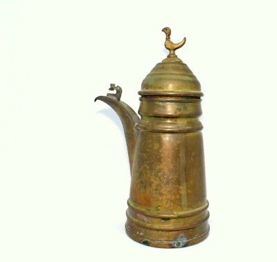 "8.8"" Antique Vintage Brass Islamic Bedouin Dallah Arabic Coffee Pot Middle East"