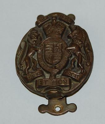 vintage brass door knocker england lion unicorn motif