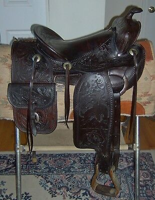 RARE Vintage collectable Ed Paul custom made Western Saddle
