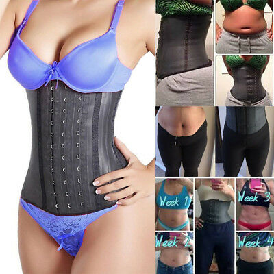US Fajas Reductoras Colombian Body Shaper LATEX Waist Trainer Corset Shapewear
