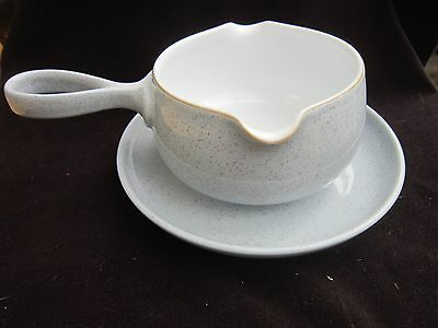 DENBY  Reflections SAUCE BOAT AND STAND   FIRST QUALITY