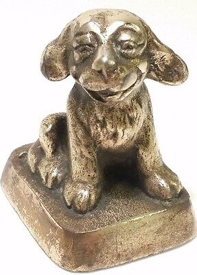 Antique Cast Iron Brass Sitting Smile Dog Funny Puppy decorative paperweight