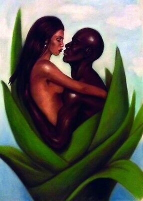 Blooming Love One by Laurie Cooper  African American Art - New