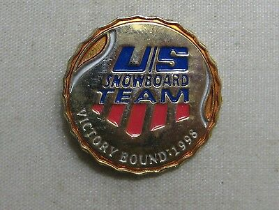 Us Snowboard Team Victory Bound 1998 Lapel Pin ~ Winter Olympic Games Pin