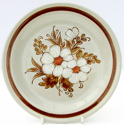Vintage Mountain Wood Collection Dried Flowers Stoneware Tea Side Dessert Plate