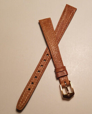 11mm LIGHT BROWN HIRSCH VINTAGE GENUINE CAMEL GRAIN WATCH BAND >NEW OLD STOCK<