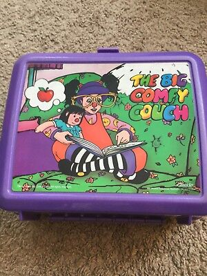1996 The Big Comfy Couch Aladdin Purple Kids Lunchbox with Thermos