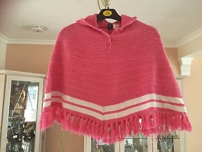 Baby Gap Girls Pink Hooded Cape Age 2 Years