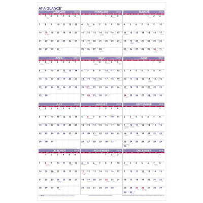 Yearly Wall Calendar January 2018 December 2018 Glance Planner Monthly Next Year