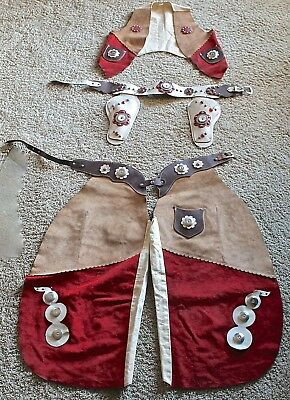 """Cowboy / Cowgirl - Leather - """"Chaps, Holsters, Vest"""" - Vintage - Rodeo - Ranch"""