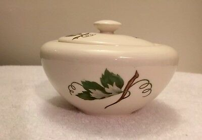 Vintage Edwin Knowles China Grapevine KNOGRAP Oval Sugar Bowl with Lid